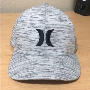 Hurley Logo Hat Sz L / XL Heathered Gray